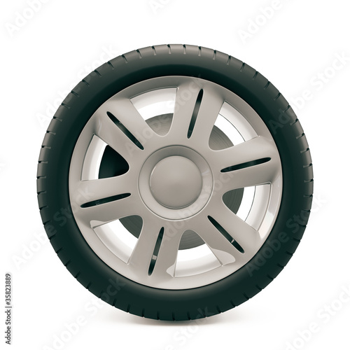 Wheel with tire