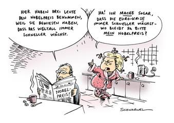 Nobelpreis für Physik Euro-Krise Merkel