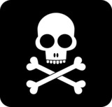 Skull and crossbones - icon poster