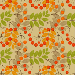 Rowan seamless pattern