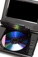 TV with a dvd disk