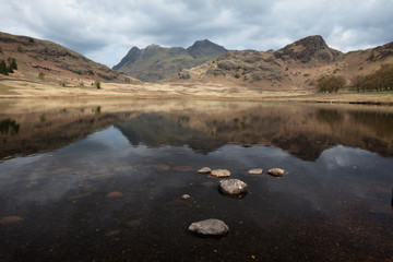 Langdale Pikes from Blea Tarn, Lake District, Cumbria