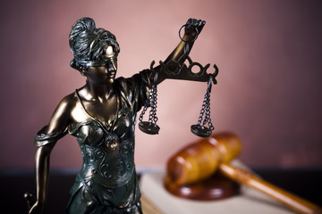 Scales of Justice and Law