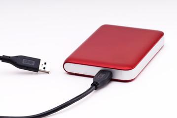 disque dur externe rouge