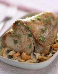 Rôti de thon en cocotte