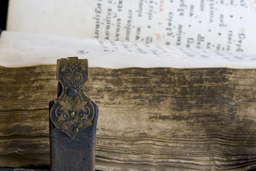 Medieval old book, psalter