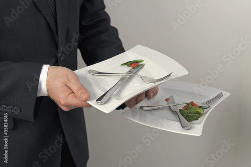 Service l 39 assiette from food pictures royalty free - Service a l assiette ...