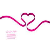 Fototapety Pink Heart-Ribbon Vector