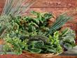 Corbeille d'herbes