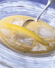 Soupe de mangue et de melon