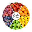 fruit and vegetable color wheel (6 colors)