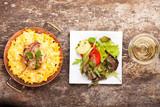 Fototapety bayerische Spätzle mit Käse