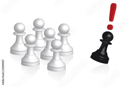 grupo blanco uno negro
