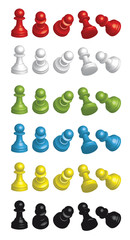 peones colores movimiento