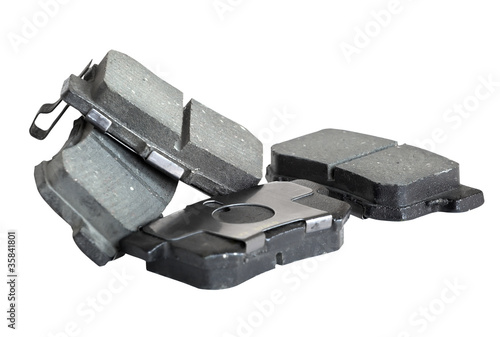 brake pad isolated on white