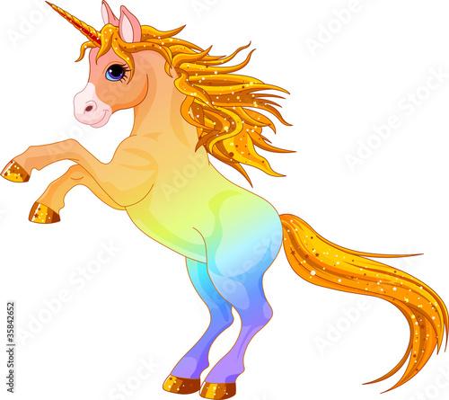 Poster Pony Rainbow colored unicorn