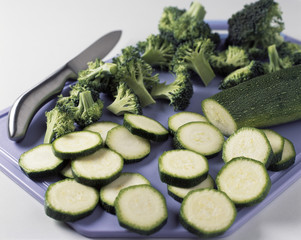 Quiche brocoli courgette