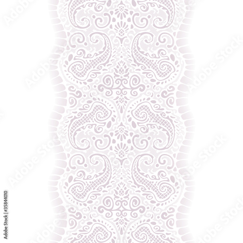 white lace with paisley pattern