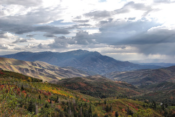 Stormy Autumn Mountains in the Uintah National Forest, Utah