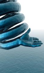 ressort main bleue