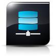 Symbole glossy vectoriel serveurs base de données