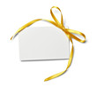 greeting card with ribbon note