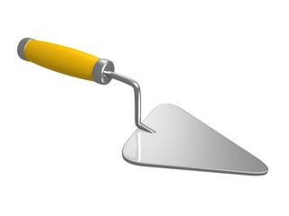 trowel on white background