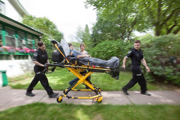 Senior Woman Emergency Medical Help