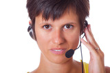 Cheerful Receptionist with Headset