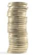 Montón de monedas de 1 euro