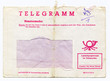 Post Telegramm Kurvert DDR