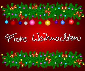 Weihnachtsgruß Frohe Weihnachten