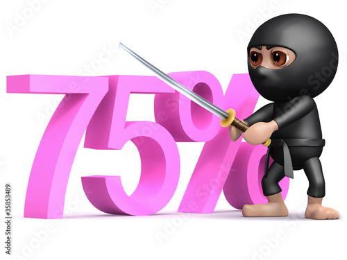 3d Ninja cuts seventy five percent