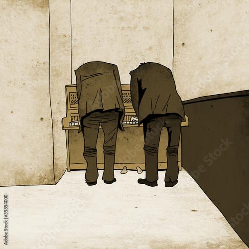 Les pianistes © sanrankune11