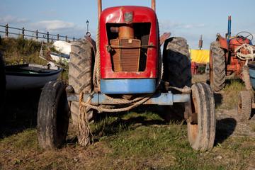 Tractors for cockling, Lytham, Lancashire coast