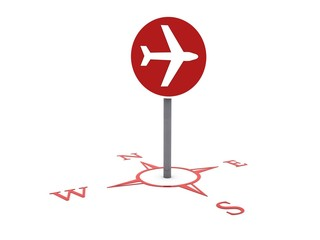 airplane sign location