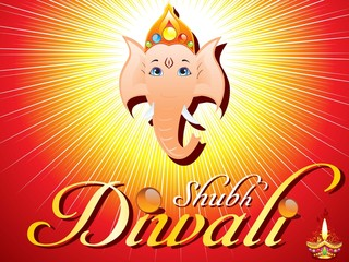abstract diwali card