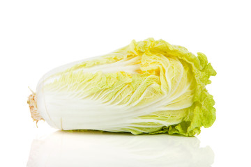 fresh Chinese cabbage in closeup