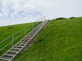 Deich mit Treppe