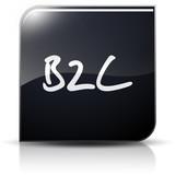 Symbole glossy vectoriel B2C poster