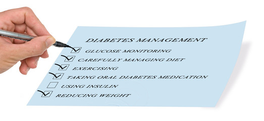 checklist for diabet managment