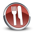 """Red 3D Style Icon """"Eatery / Restaurant"""""""