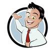 retro business mann cartoon