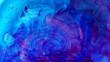Blue Ink flowing in water