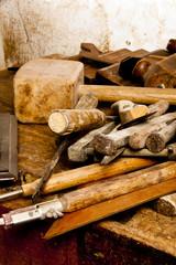 Hammer Chisel Wood