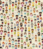 Background / wallpaper / texture of funny cartoon people