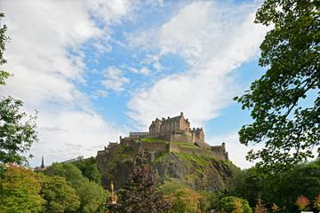 Edinburgh Castle, Scotland, Europe, in August