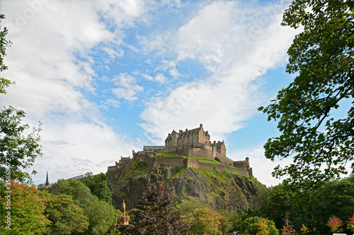 Edinburgh Castle, Scotland, Europe, in August