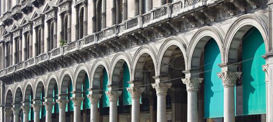 I portici di Corso V. Emanuele II (Milano)
