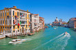 Famous Canal Grande in Venice, Italy.
